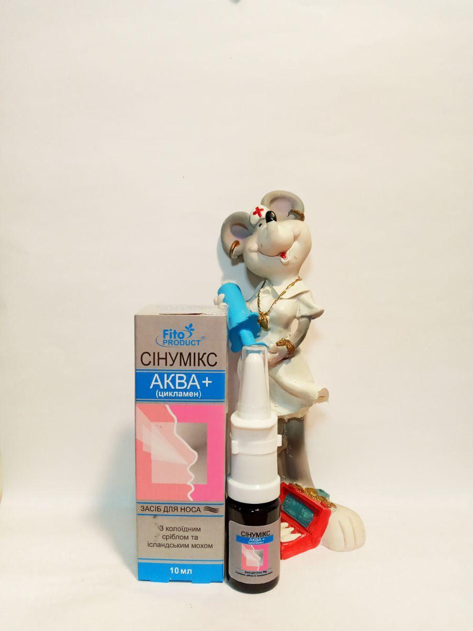 средство для носа на основе коллоидного серебра, цикламена, исландского мха при воспалении слизистой носа, синусита, гайморита
