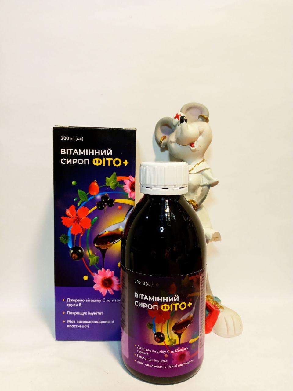 витаминный фитосироп с насыщенным растительным витамином С и поддержание иммунитета из плодов шиповника, эхинацеи, бузины и суданской розы