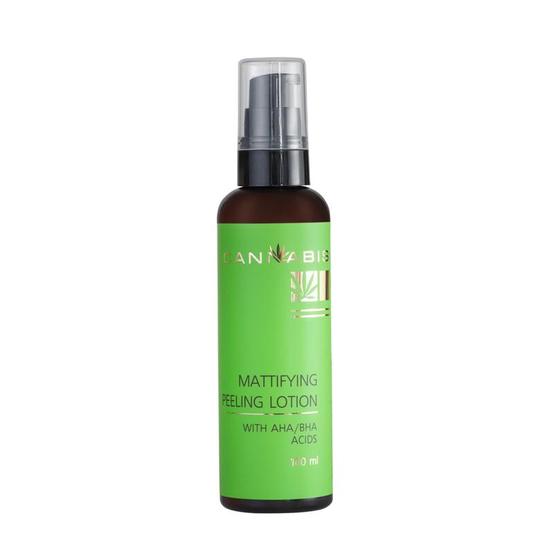 Покупаете Лосьон-пилинг для очищения лица для проблемной кожи с АХА кислотами и экстр каннабиса
